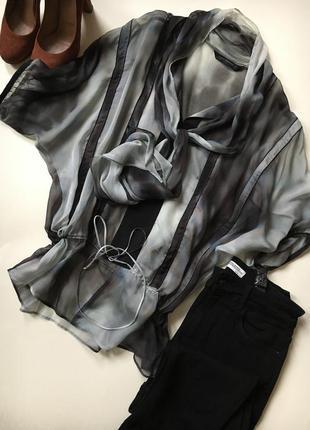 Шовкова блуза омбре градієнт 38/m zara