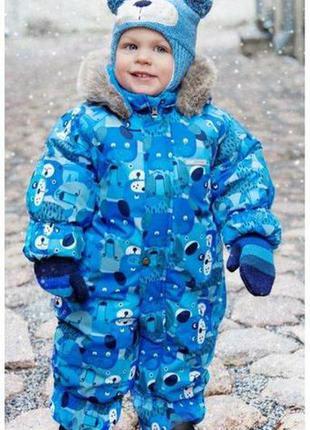 Sale. зимний комбинезон для мальчиков lenne zoo. размер 86.