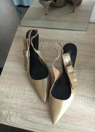 Туфли с открытой пяткой распродажа