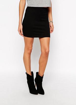 Новая вискозная черная юбка h&m 10-12рр