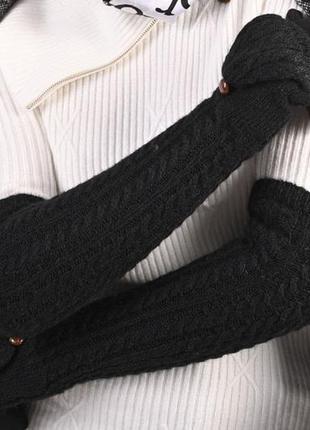 Рукавички та мітенки колір чорний