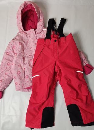 Зимний комплект на девочку лыжная куртка и штаны комбинезон lupilu crivit