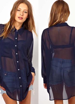 8a6e14c1eec Длинная шифоновая рубашка Vila Clothes