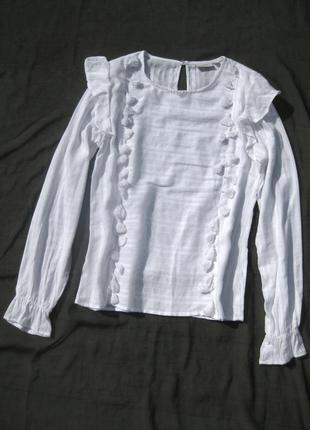 Красивая белая блуза kappahl