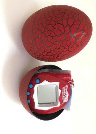 Игрушка тамагочи в красном яйце динозавра