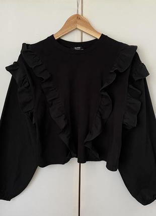 Блуза bershka 100% хлопок