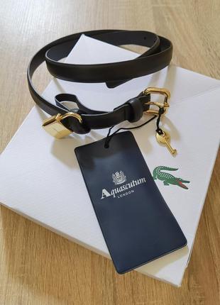 Пояc ремень aquascutum london натуральная кожа +замочек