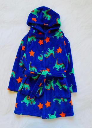 Matalan  классный плюшевый халат на мальчика  4-5 лет