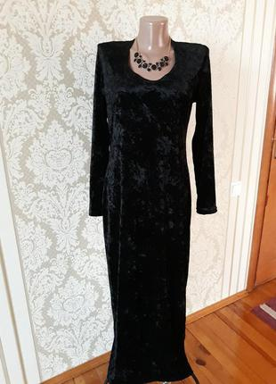 Фирменное  бархатное  jacqueline de young нарядное вечернее коктельное длинное  платье