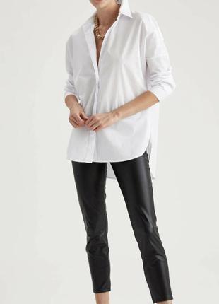 Біла сорочка оверсайз, белая рубашка