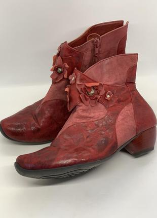 Красные ботинки полусапожки 37-38р