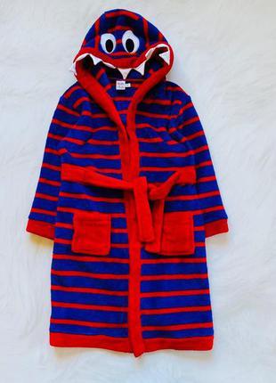 Miniclub  классный плюшевый халат на мальчика  4-5 лет