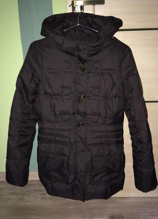 Фирменный пуховик, куртка с капюшоном