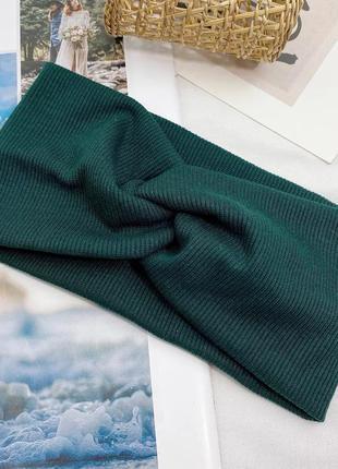 Зеленая повязка на голову женская детская