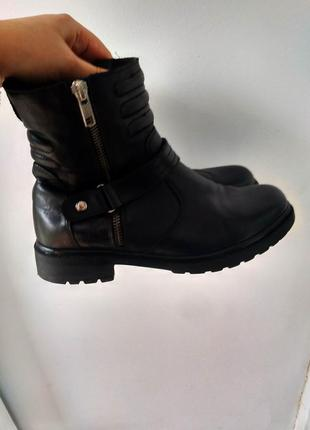 Ботинки кожаные 5th avenue 37 р. черные
