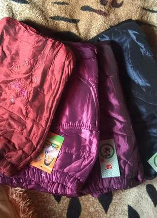 Теплые балоневые штаны на флисе. утеплённые, непродуваемые