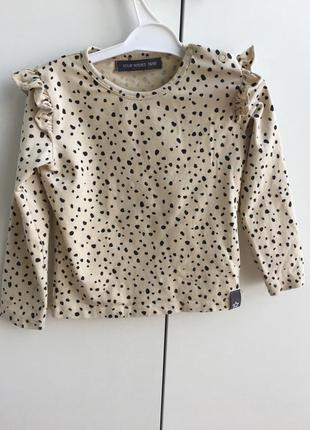 Кофтинка , кофточка , блуза , блузочка , реглан, регланчик , 80 см, 9-12 , zara