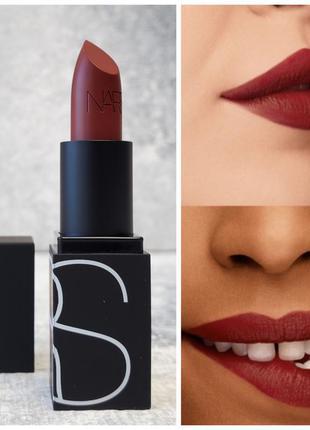 Помада nars lipstick rouge a levres оттенок banned red satin