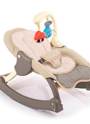 Крісло качалка, колір шоколадний