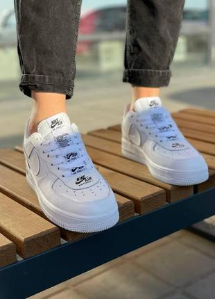 """Кроссовки nike air force double air """"white black"""""""