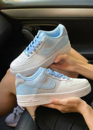 Кроссовки nike air force 1 psychic blue