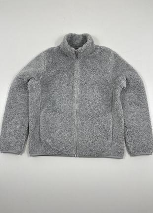 Оригинальная зимняя тёплая флисовая кофта батник бомбер шерпа  японский худи свитшот куртка ветровка