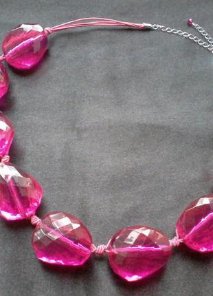 Бусы ожерелье m&s розовое