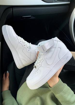 Nike air force 1 high whiteкожаные кроссовки демисезон
