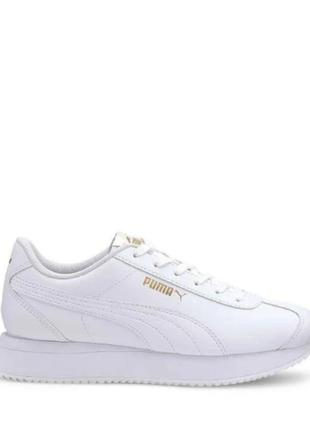 Жіночі білі шкіра шкіряні кроссовки кросівки puma оригінал  розмір 37