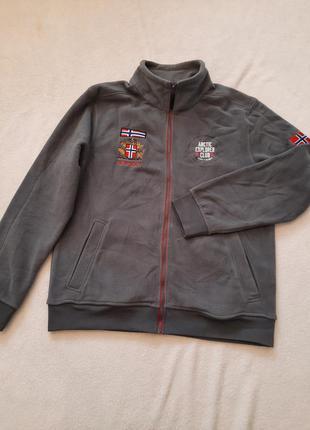 Стильна тепла флісова курточка, розмір xl