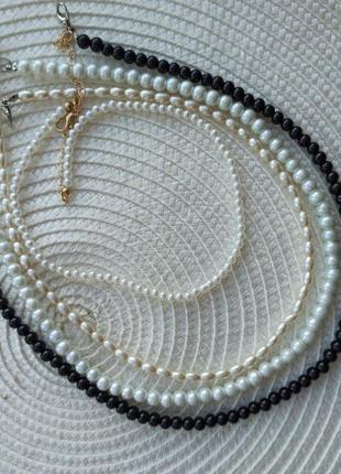 Кольє намисто чокер з перлинами буси
