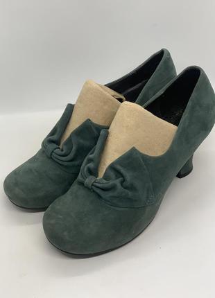 Туфли зелёные комфорт на ногу 39р