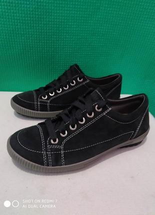 Кожаные спортивные туфли мокасины кроссовки legero