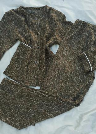 Пижама со штанами, комплект для отдыха и дома