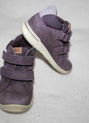Демисезонные ботинки фирмы ecco 22 размера по стельке 14,3 см.