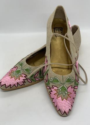 Туфли балетки вышивка 38-39р