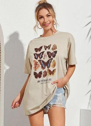 Женская винтажная футболка платье в стиле ретро, хипстерская футболка оверсайз