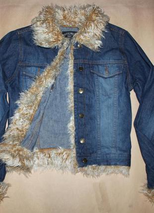 Куртка джинсовая с мехом / джинсовка