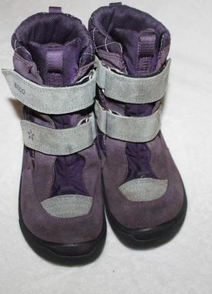 Ботинки сапоги термо фирмы ecco 30 размера по стельке 19 см. вся стелька с загибом 19,8 см.
