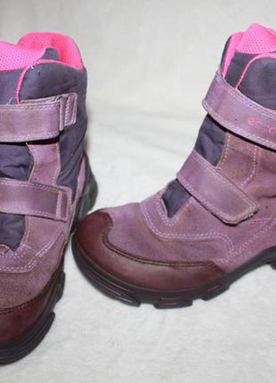 Ботинки сапоги термо фирмы ecco 32 размера по стельке 20,5 см. вся стелька с загибом 21,5 см.