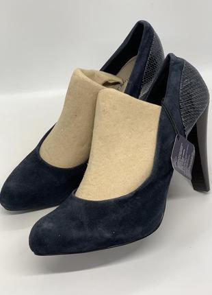 Туфли лодочки темно-синие 40р