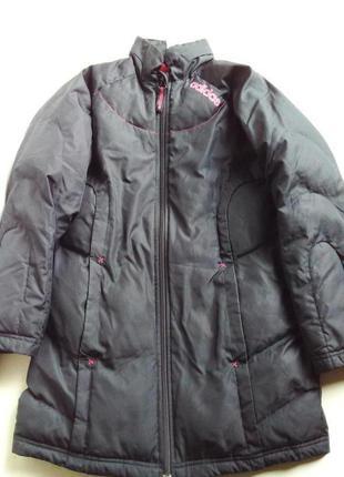 Зимний пуховик пальто на девочку adidas -оригинал