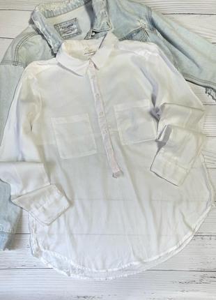 Оверсайзная белая рубашка
