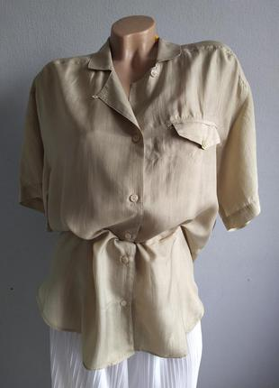 Базовая блуза из 100% шелка, оверсайз