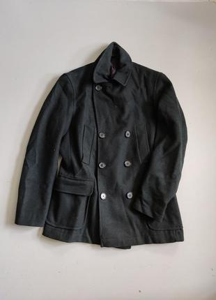 Next зеленоу мужское пальто-бушлат