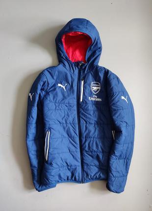 Двухсторонняя мужская зимняя куртка puma arsenal