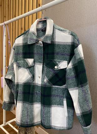 Зелёная рубашка в клетку, как в zara
