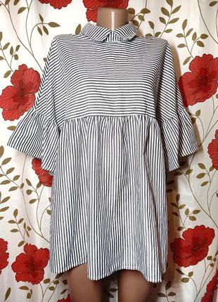 Класна котонова блуза розмір л  пог 53 см  нова