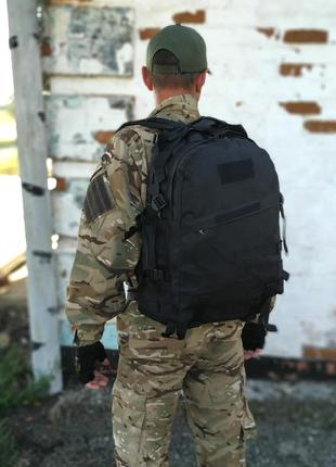 Тактический рюкзак raid на 40 л. с системой m.o.l.l.e (черный)