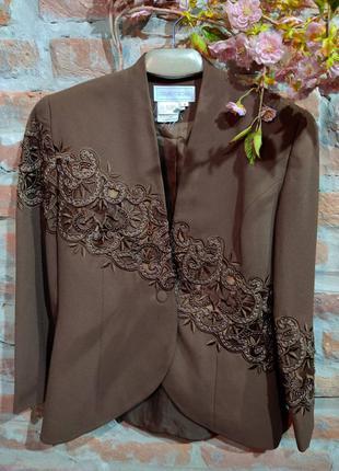 Роскошный винтажный жакет с вышивкой